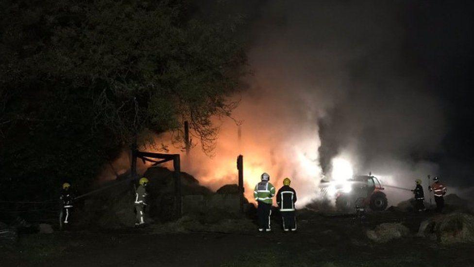 Barn Fire in Totton