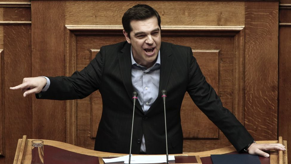 Greek Prime Minister Alexis Tsipras, 8 May 16