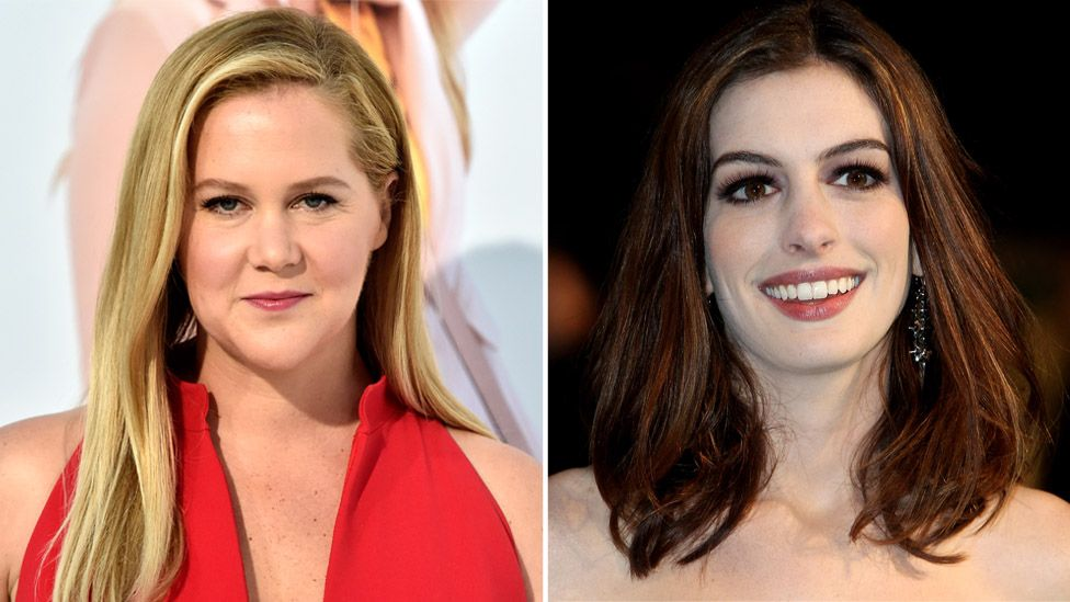 Amy Schumer and Anne Hathaway