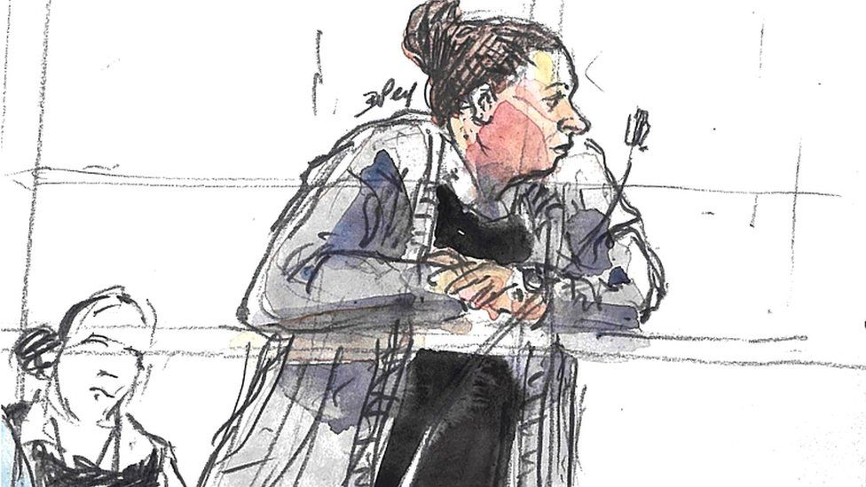 Defendant Inès Madani, appears in the Criminal Court of Paris during her trial