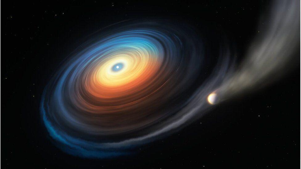 Artwork: Planet losing atmosphere