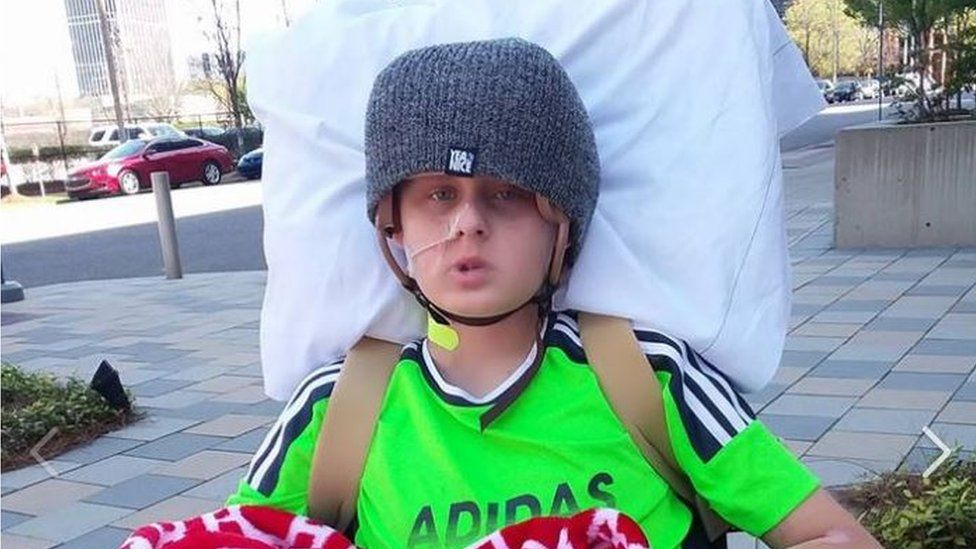 Trenton McKinley, the 13-year-old involved in the accident