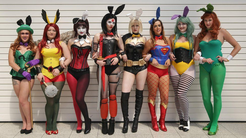 DC Cosplay Bunnies at Comic Con