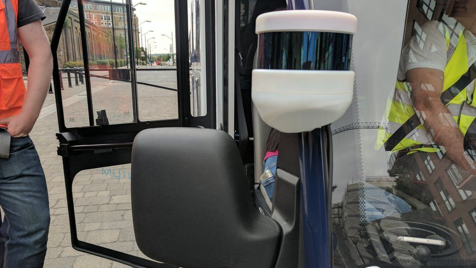 driverless delivery truck sensors