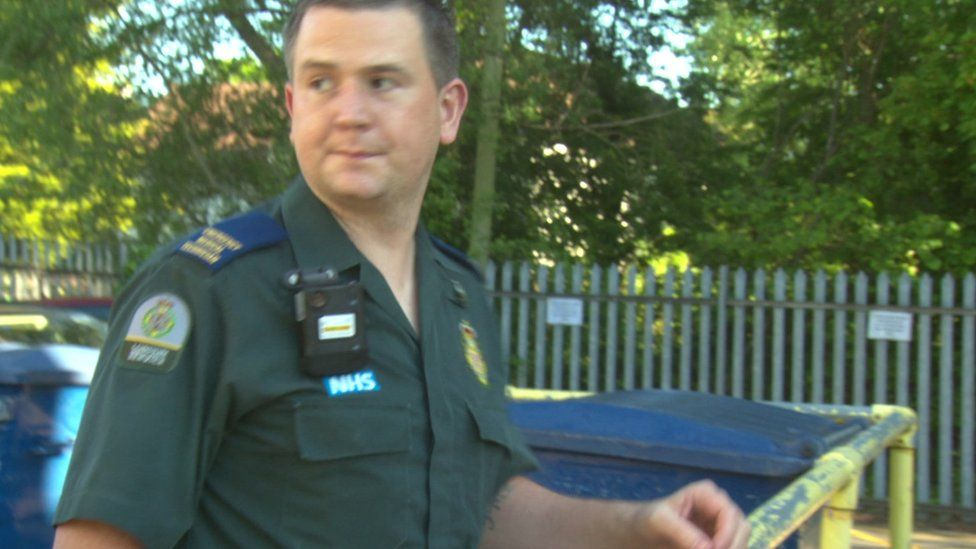 Paramedic Gary Watson was involved in trialling the cameras worn on their shirts