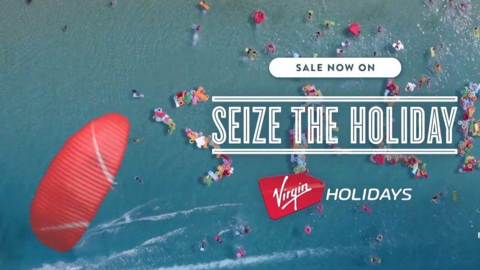 Still from Virgin Holidays ads
