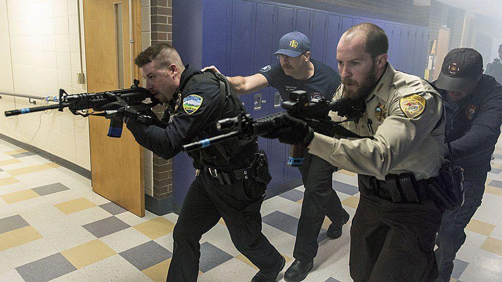 School shooting drill