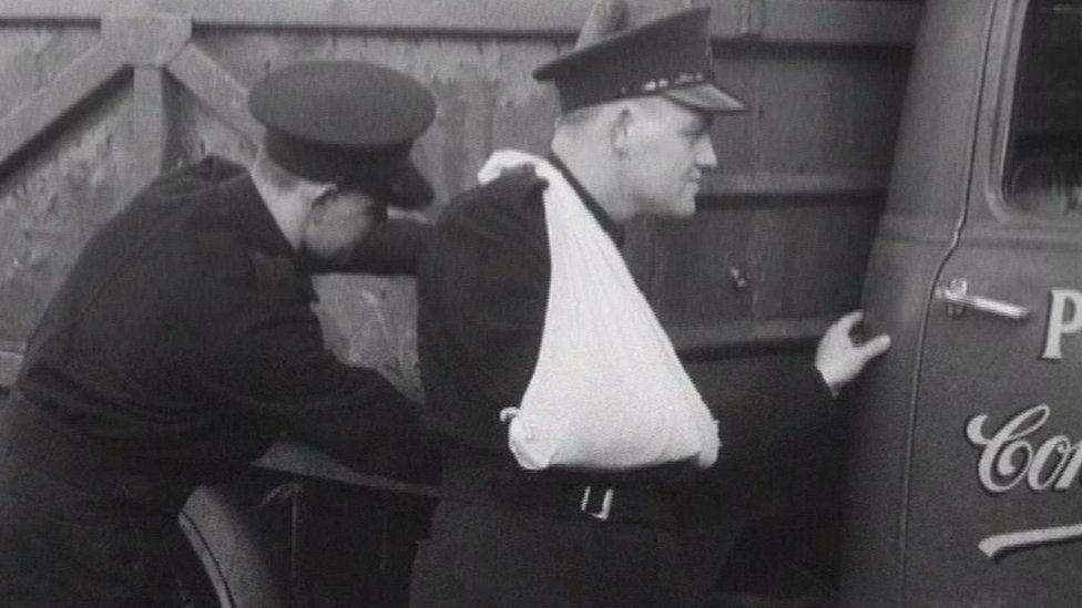 RUC men examine the lorry