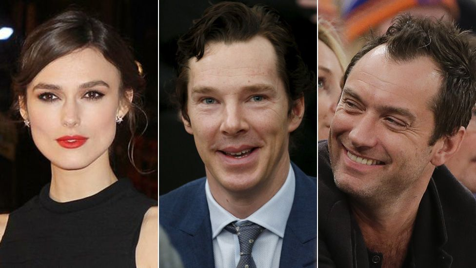 Keira Knightly, Benedict Cumberbatch and Jude Law