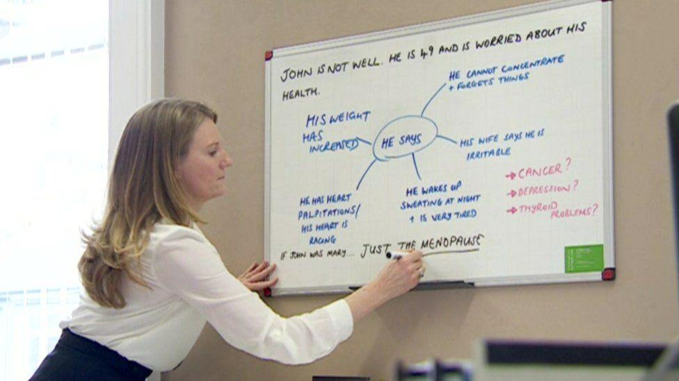 Lawyer Lisa Bryson at work