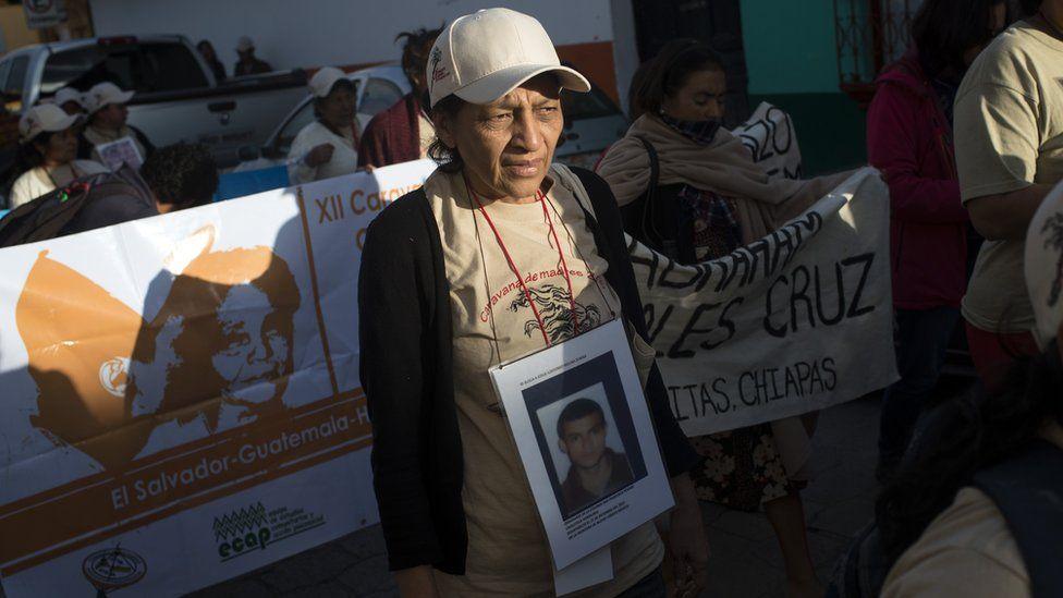 Isidora de Jesus Zuniga Colindres at a march