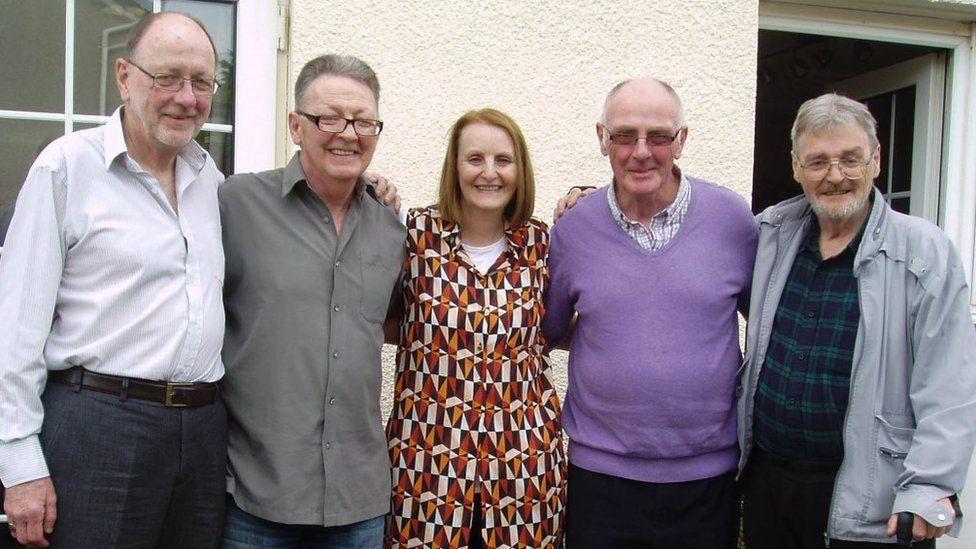 Ian Savage (born Peter Clark), Bernard Clark, Joan Clark, Ian McLean (born David Clark) and James Clark
