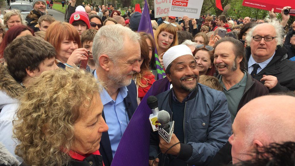 Jeremy Corbyn in Cardiff