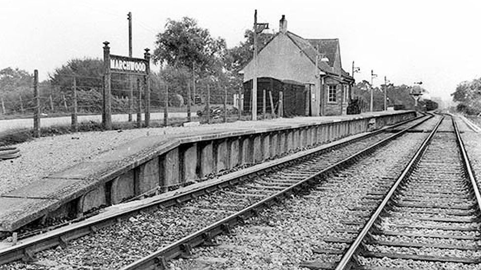 Marchwood station in the 1950s