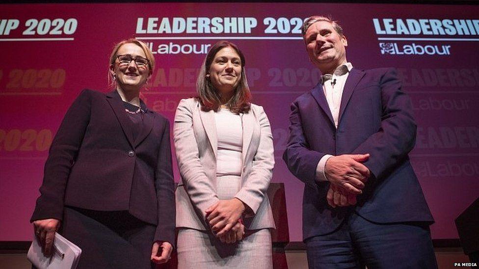 Rebecca-Long Bailey, Lisa Nandy and Sir Keir Starmer