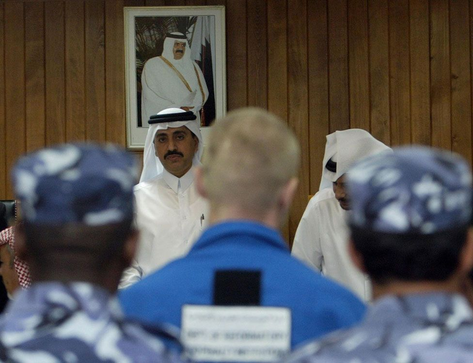 One of the two Russian agents on trial in Qatar