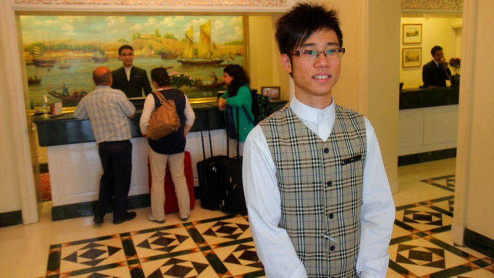 Singapore hotel worker