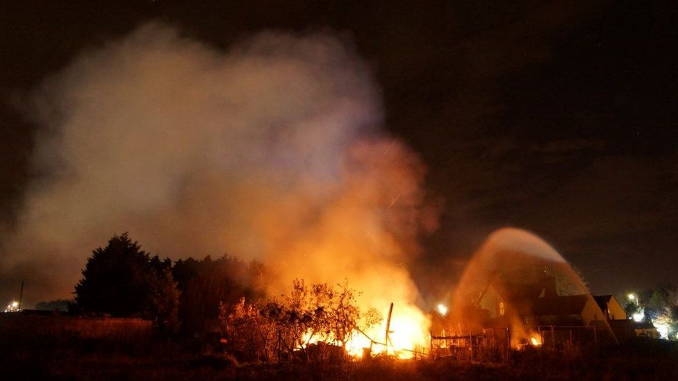 Biggleswade barn fire