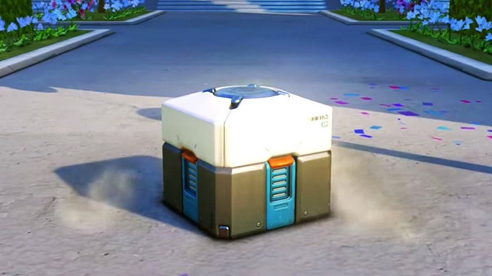 A loot box in the game Overwatch