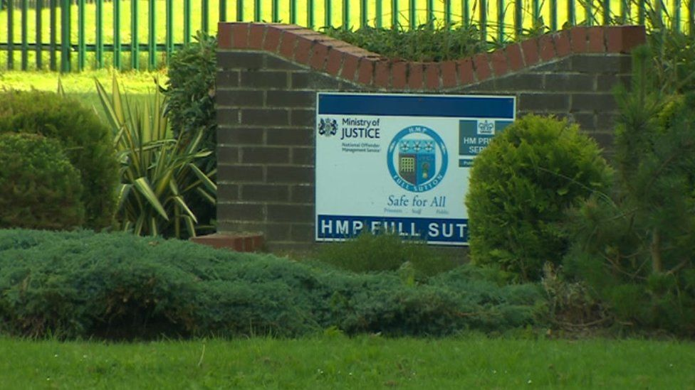 HMP Full Sutton sign