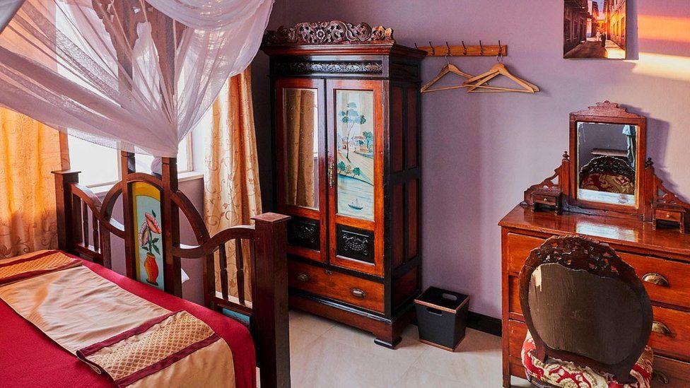 Room in Freddie Mercury's family home in Zanzibar
