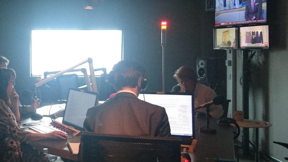 Michelle Thomson in radio studio