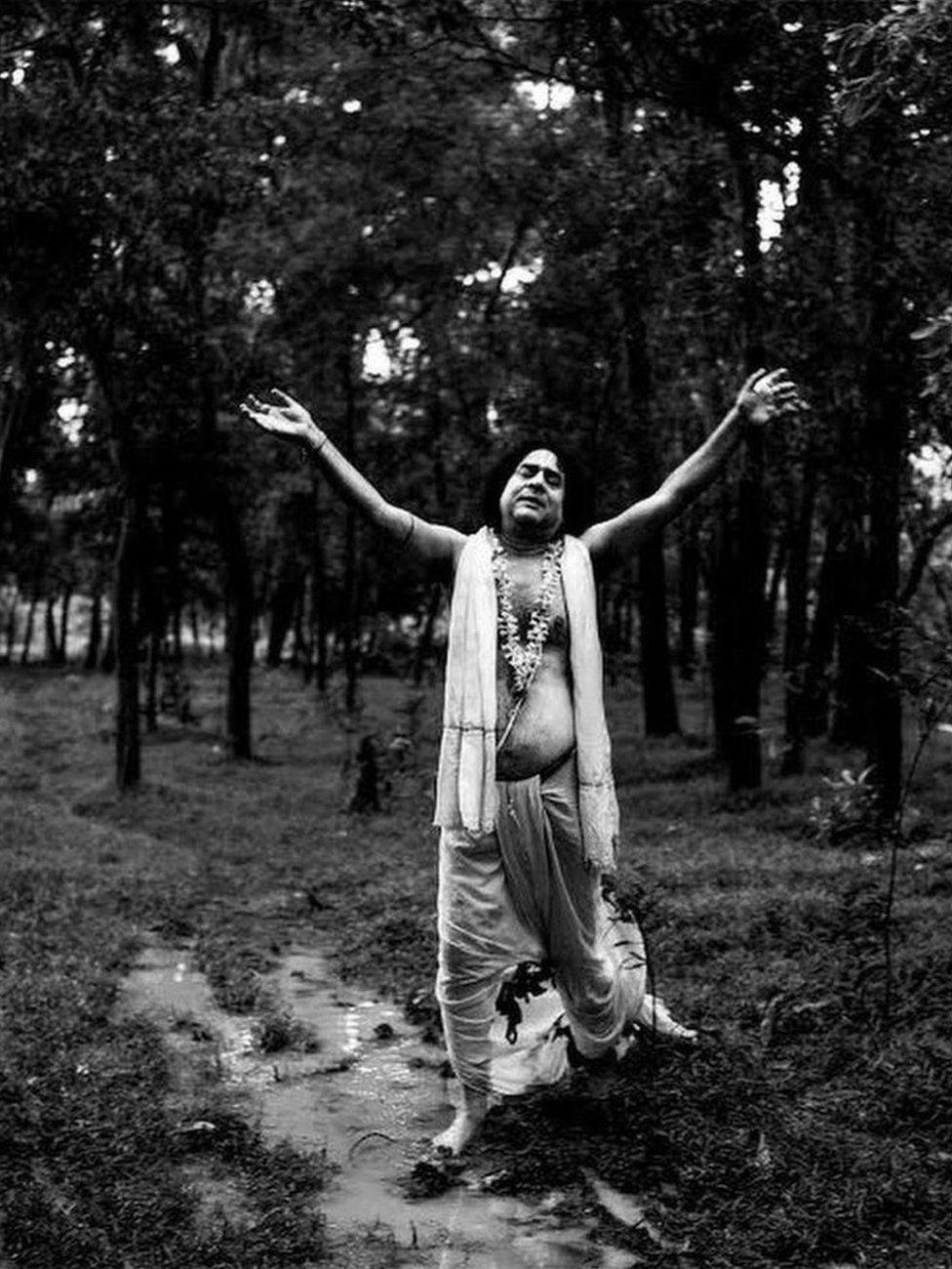 Pradip Kumar Pal(59yrs) is famous for his outstanding portrayal of Sree Chaitanya Mahaprabhu (a Bhakti saint from Bengal). He runs a stationary shop now. Gambhira Nagar, India.