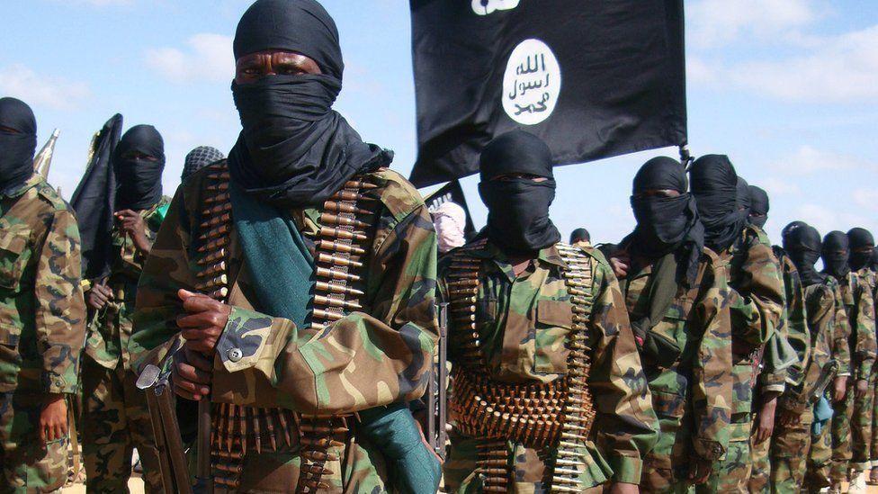 File image of Somalia al-Shabab fighters in Elasha Biyaha