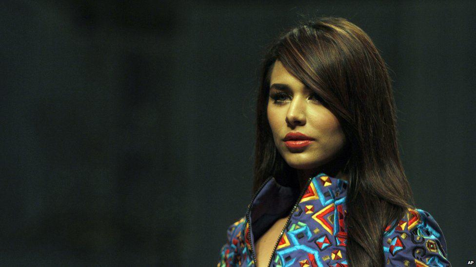 File photo: Model Ayyan Ali on a catwalk in Karachi, Pakistan, 10 April 2013