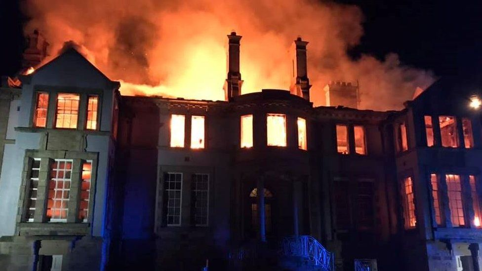 Scalesceugh Hall: Firefighters tackle blaze at mansion