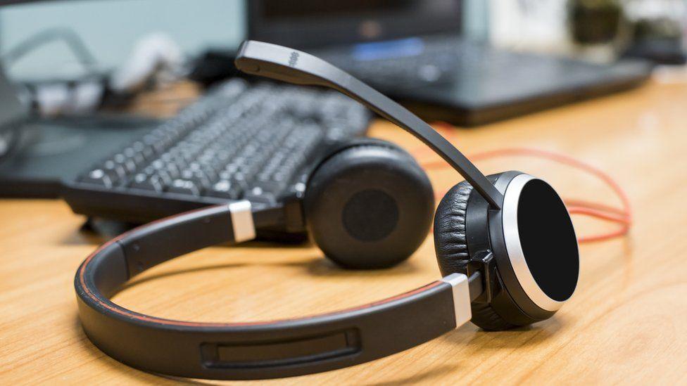 Headphones and a keyboard