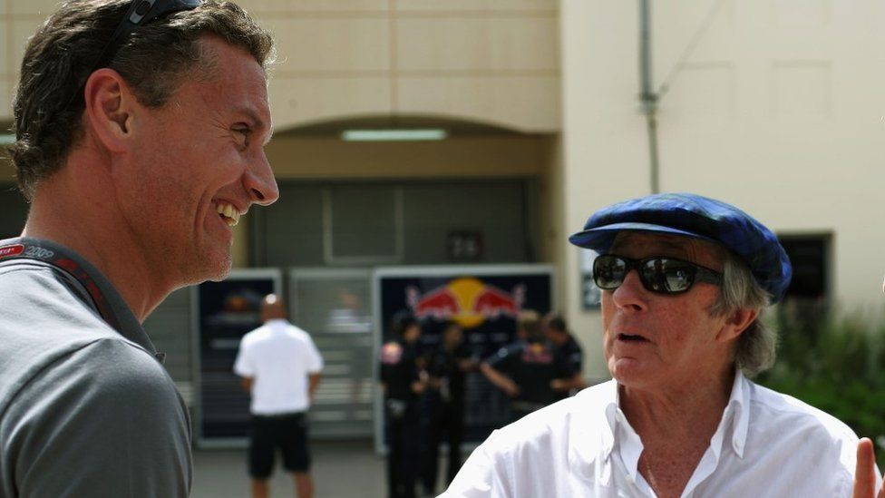 David Coulthard and Jackie Stewart