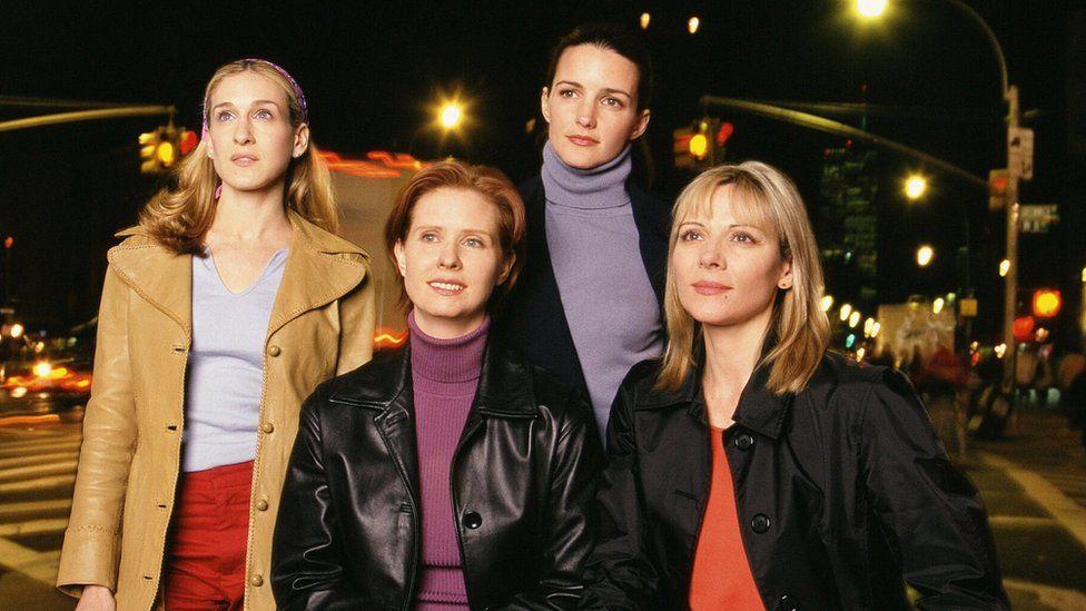 The cast of Sex in the City - Sarah Jessica Parker, Cynthia Nixon, Kristin Davis and Kim Cattrall