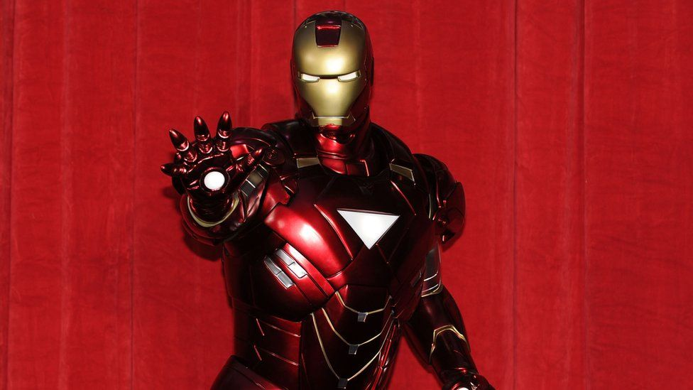 A statue of Iron Man at Paramount Pictures and Marvel Entertainment's Iron Man 2 premiere