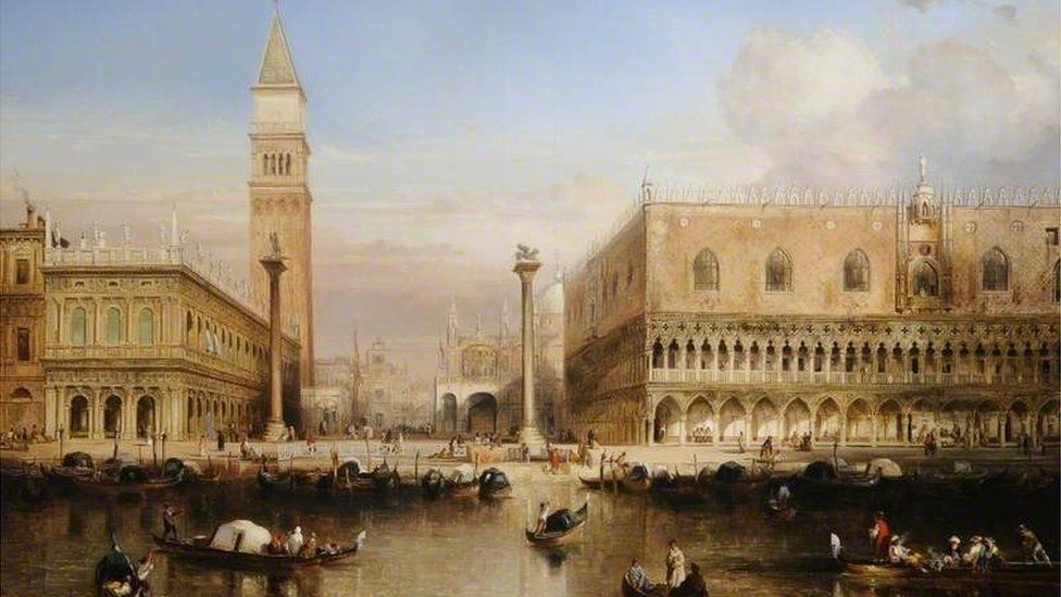 The Doge's Palace, Venice by Louis Thienon