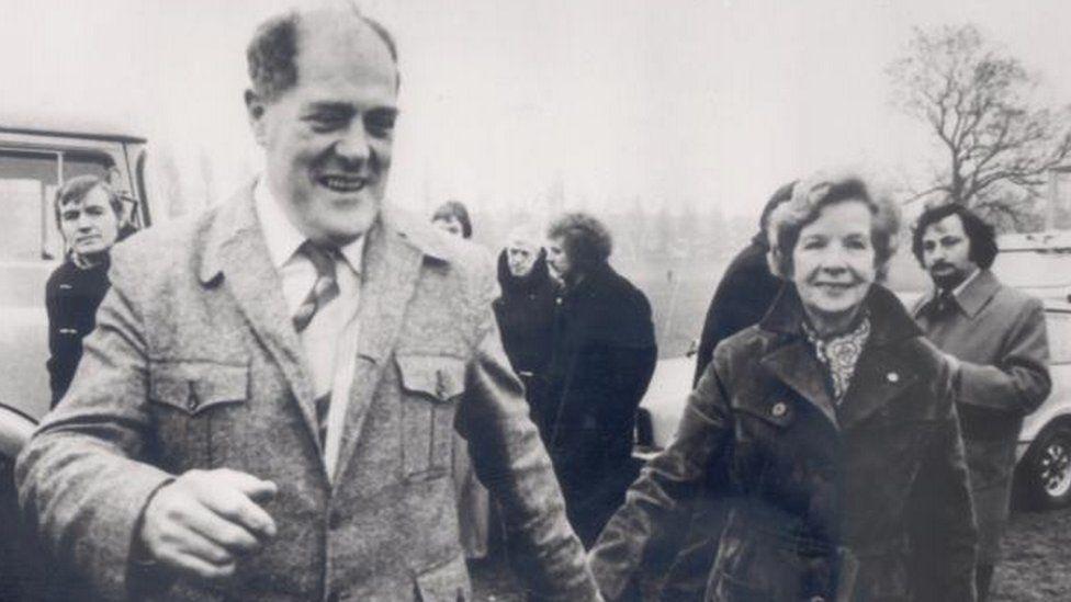 Mr Robinson with his partner Phyllis Davies