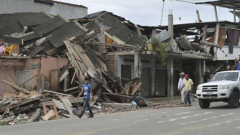 The quake-hit city of Pedernales (18 April 2016)