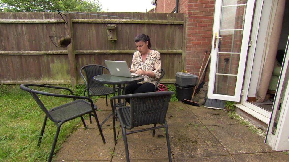 Lisa Harding in her garden