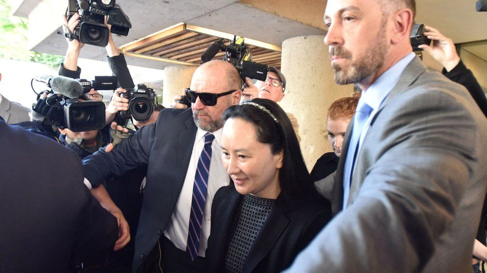 Huawei Chief Financial Officer, Meng Wanzhou, leaves British Columbia Supreme Court in Vancouver, on May 8, 2019
