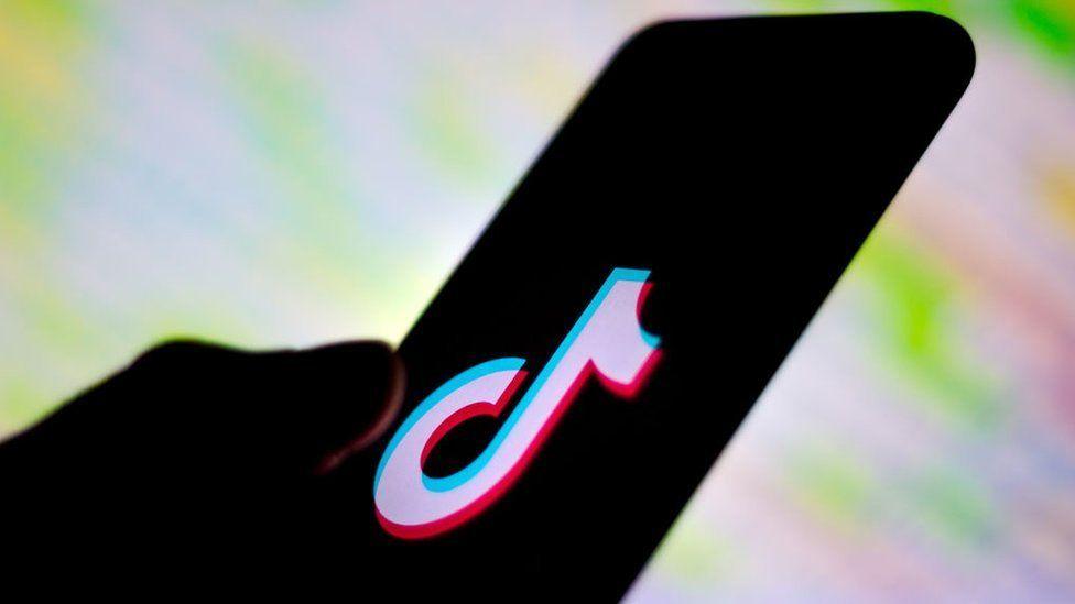 A phone using the Douyin app