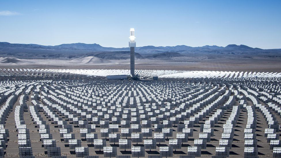 Crescent Dunes solar thermal plant