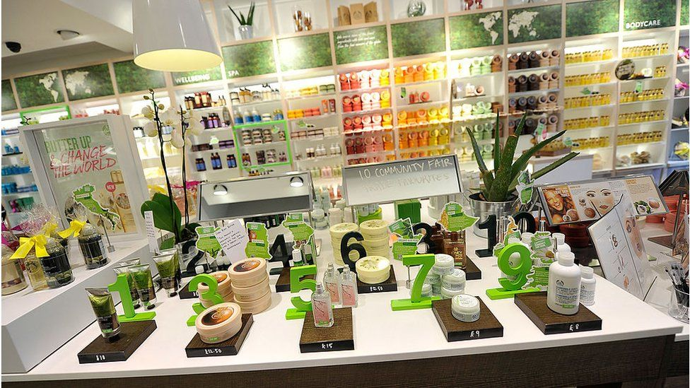 The Body Shop interior