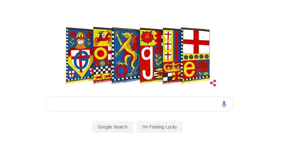 St George's Day Google doodle