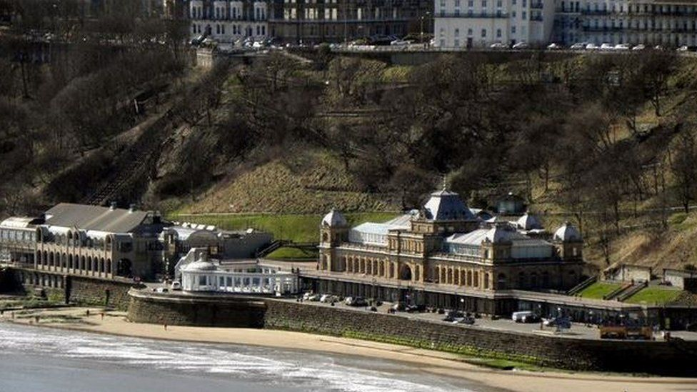 Scarborough Spa and cliffs in 2010