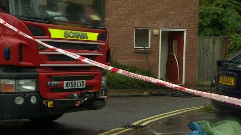 Fatal fire in Angel Yard, Marlborough, 5 October 2015