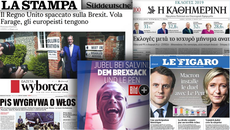 Front pages of European newspapers, 27 May 2019