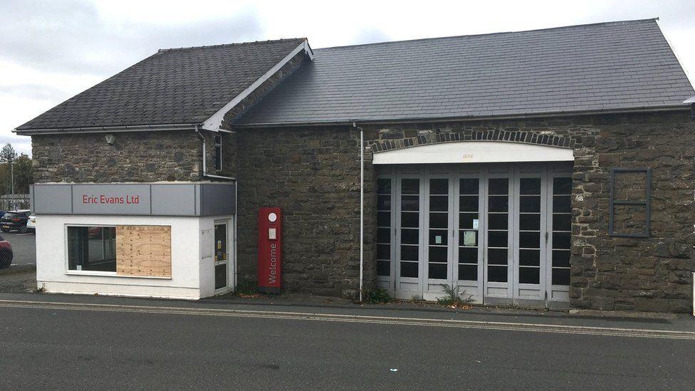 Former railway shed in Llandrindod Wells, Powys