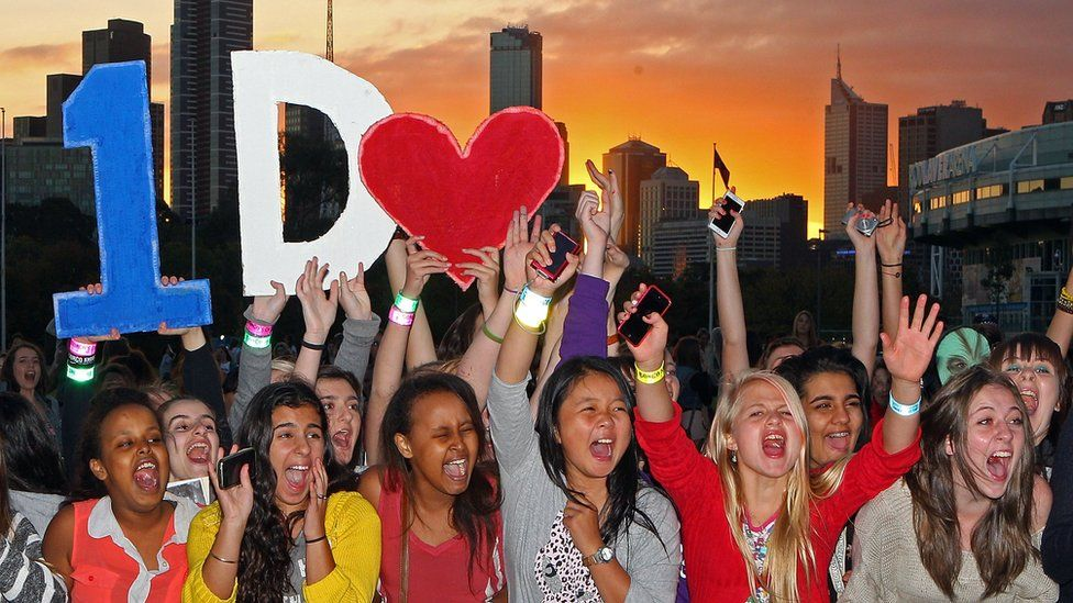 One Direction fans at a concert in Melbourne