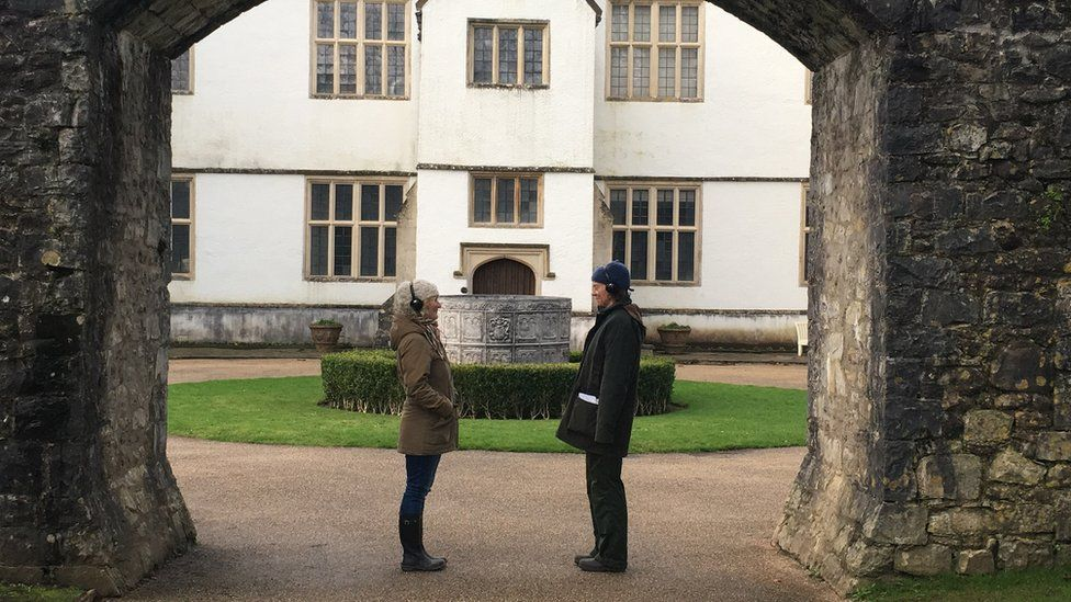 The app takes visitors on a physical journey around the St Fagans castle gardens