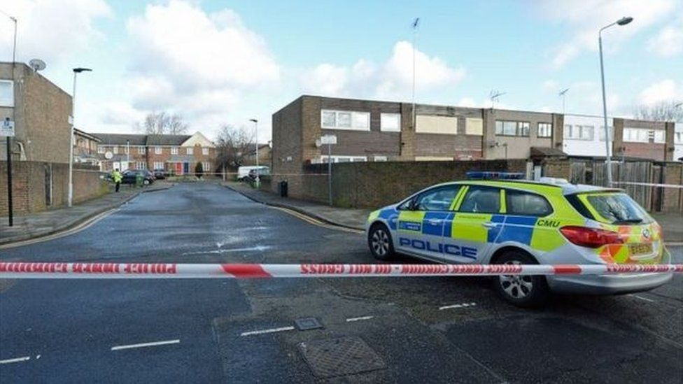Police cordon in Newham